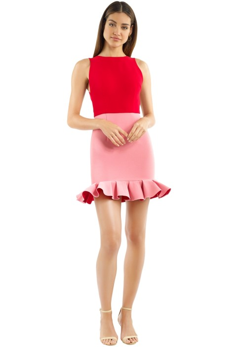 Yeojin Bae - Tilly Dress - Red Pink - Front