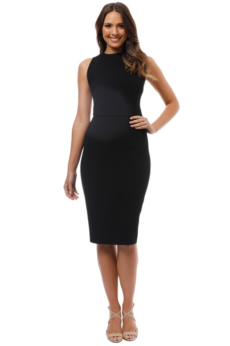 Yeojin Bae - Double Crepe Sophie Dress - Black - Front