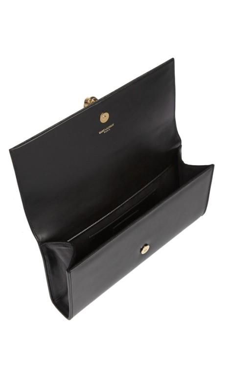 7185c24327 Yves Saint Laurent - Classic Monogram Tassel Clutch Black
