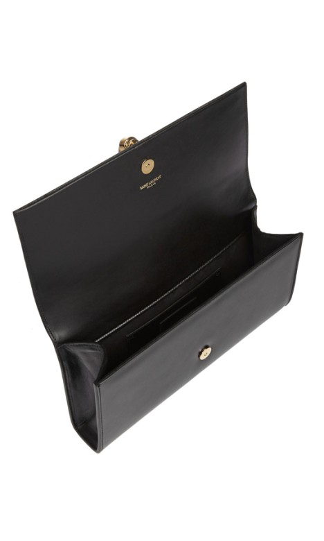 38421db34f6a Yves Saint Laurent - Classic Monogram Tassel Clutch Black