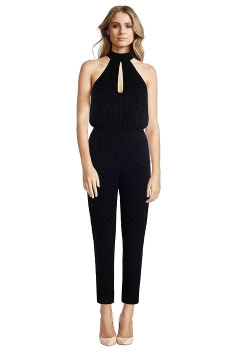 Zimmermann - Rhythm Flocked Dot Jumpsuit - Front