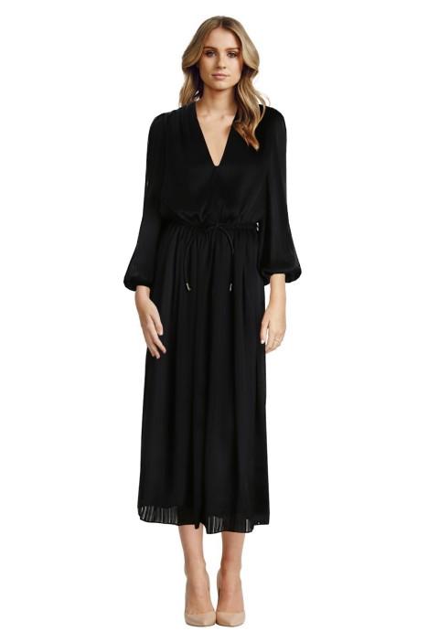 Zimmermann - Arcadia Stripe Slouch Dress - Black - Front