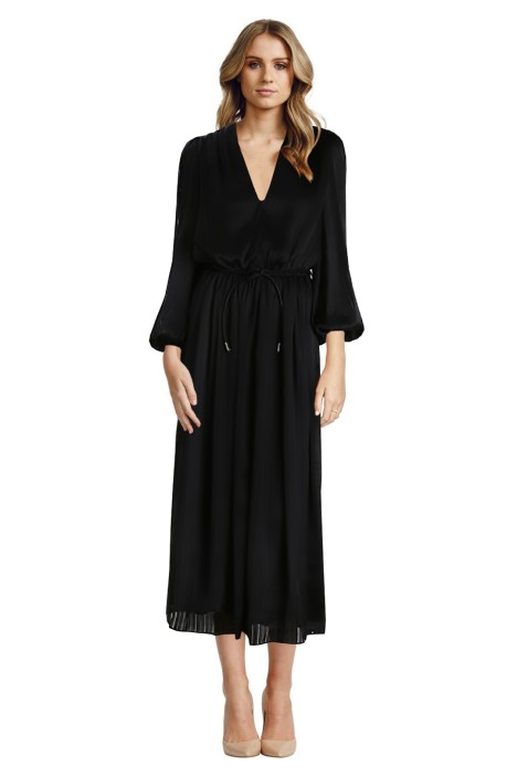 Zimmermann - Arcadia Stripe Slouch Dress - Black - Front