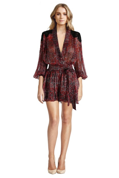 Zimmermann - Empire Filigree Playsuit - Front - Prints