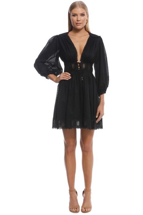 Zimmermann - Iris Corset Waist Dress - Black - Front
