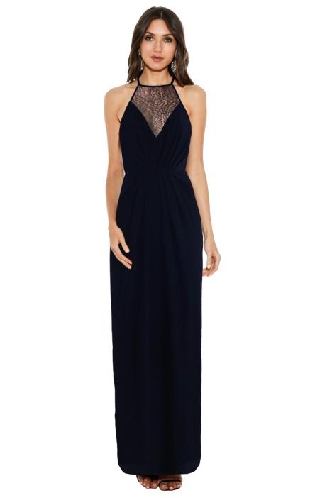 Zimmermann - Long Blue Dress - Navy - Front
