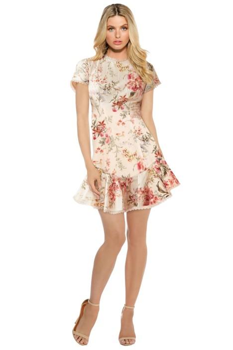 Zimmermann - Mercer Flutter Dress - Cream Floral - Front
