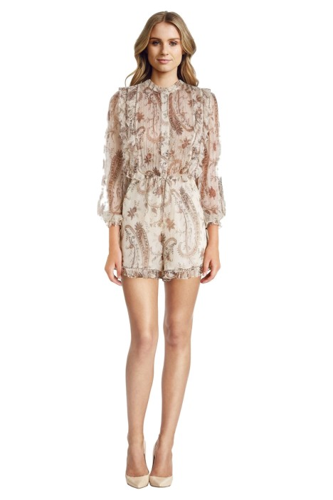 830439f388 Mischief Frill Paisley Playsuit by Zimmermann for Hire
