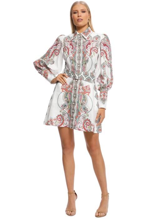 Zimmermann - Ninety-Six Shirt Dress - White Print - Front