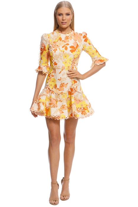 Zimmermann - Primrose Flutter Dress - Yellow - Front