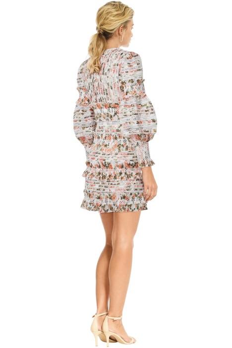 7a28a34da0c Zimmermann - Radiate Smocked Mini Dress - Peach Floral - Back