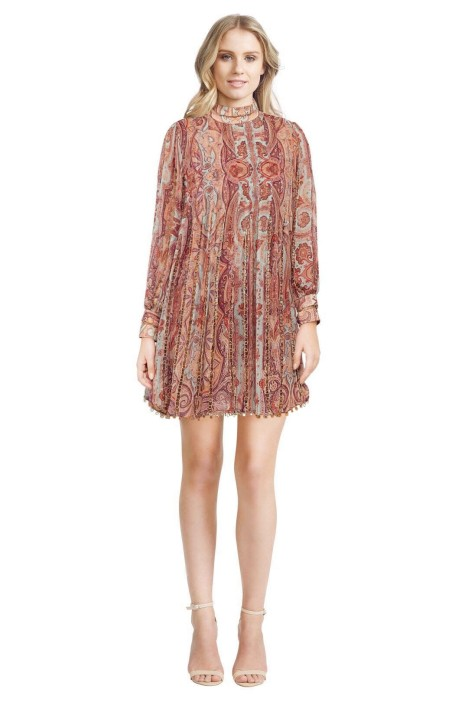 Zimmermann - Rhythm Links Swing Dress - Paisley Print - Front