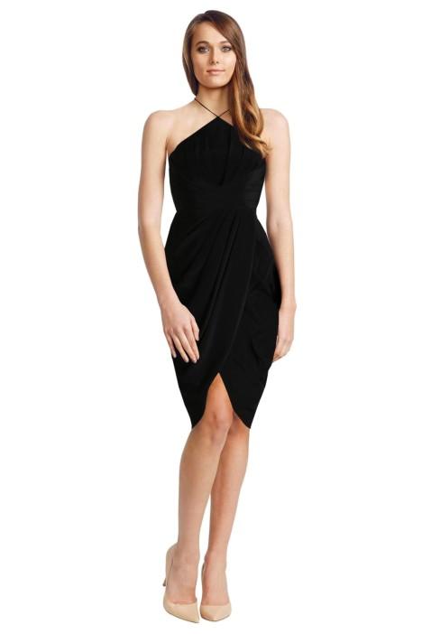 Zimmermann - Silk Tuck Dress - Black - Front