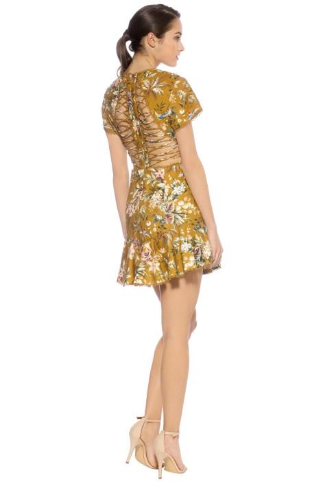 cf0eaf0da8b Tropicale Lattice Dress - Mustard by Zimmermann for Hire