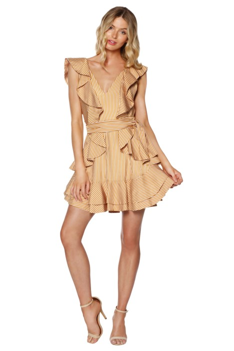Zimmermann - Winsome Flounce Dress - Gold - Front