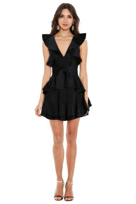 Winsome Flounce Dress In Black By Zimmermann For Hire