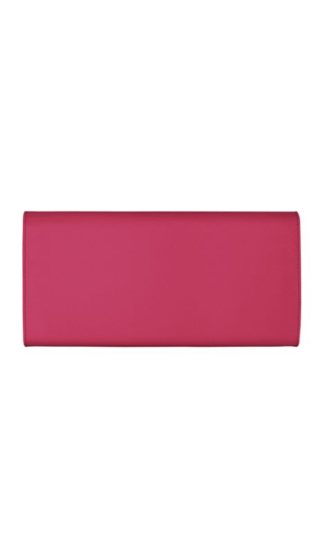 yves saint laurent small textured leather monogram clutch
