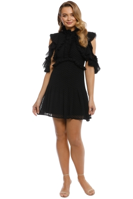 Mossman - She Spotted Me Dress - Black - Front