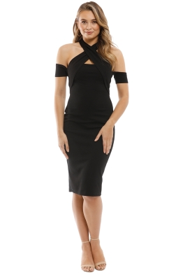 Pasduchas - Lyric Midi Dress - Black - Front
