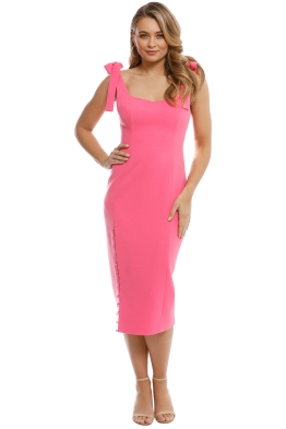 Rebecca Vallance - Cortona Midi Dress - Pomegranite - Front