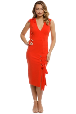 Rebecca Vallance - Martinique Dress - Orange - Front