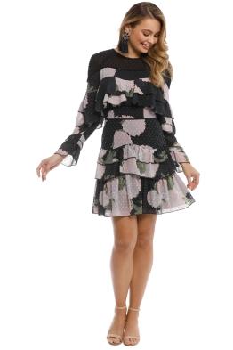 Talulah - New Woman Ruffle Mini Dress - Black Floral - Front