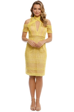 Thurley - Maze Midi Dress - Zest - Front