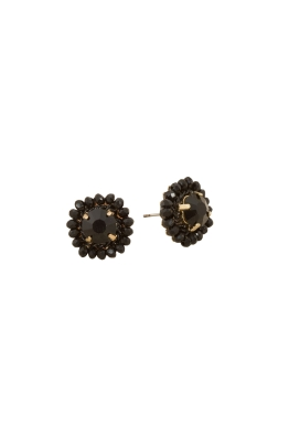 Adorne - Crystal Edge Jewel Centre Stud Earring