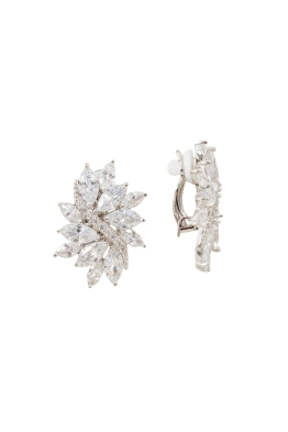 Adorne - CZ Diamante Vine Burst Clip On Earring