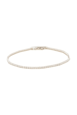 Adorne - CZ Single Strand Diamante Bracelet - Gold Crystal