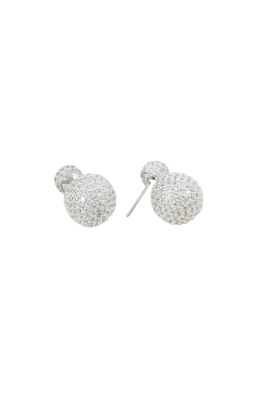 Adorne - Diamante Double Ball Stud Earring