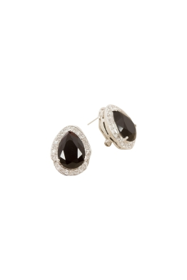 Adorne - Jewel Teardrop Diamante Edge Stud Earring