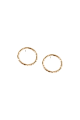 Adorne - Medium Front Hoop Stud Earring - Gold