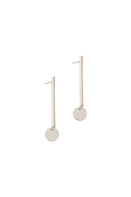 Adorne - Rod and Disc Drop Earring - Silver
