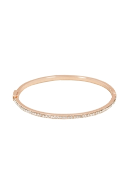 Adorne - Super Fine Diamante Hinge Bracelet - Rose Gold