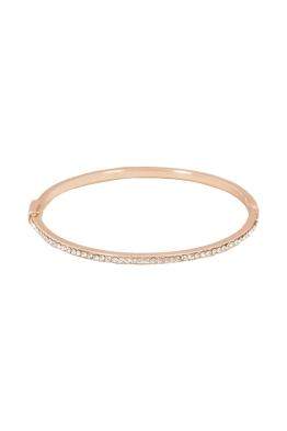 Adorne - Super Fine Diamante Hinge Bracelet - Rose Gold - Front