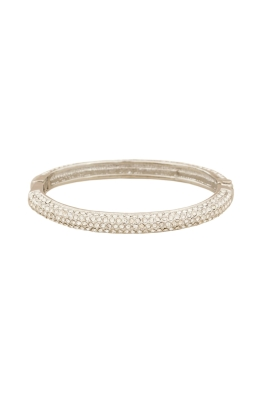 Adorne - Thin Diamante Hinged Bangle
