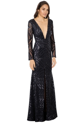 Ae'lkemi - Art Deco Sequin Gown - Side
