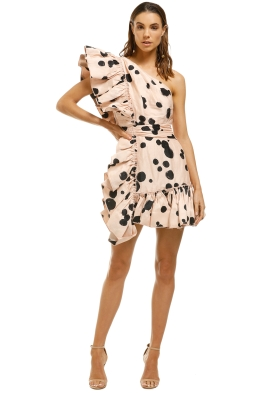 AJE-Beronia-Dress-Nude-Spot-Front