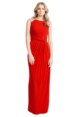 Alex Perry - Adair Dress - Front - Red