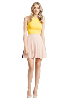 Alex Perry - Marion Dress - Front - Yellow