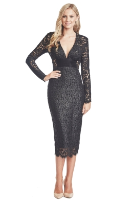 Alex Perry - Monique Dress - Front - Black