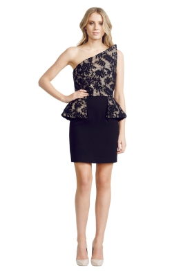 Alex Perry - Monti Dress - Front - Black