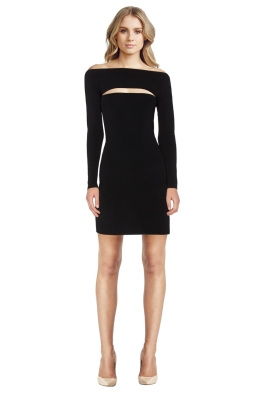 T by Alexander Wang - Needle Knit Long Sleeve Dress - Front