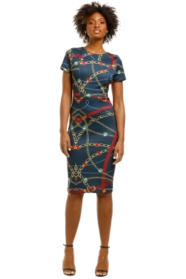 Alexia-Admor-Alexandra-Cap-Sheath-Dress-Navy-Print-Front