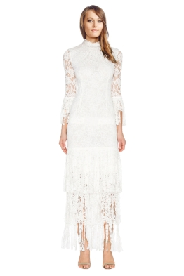 Alexis - Angela Midi Dress - White - Front