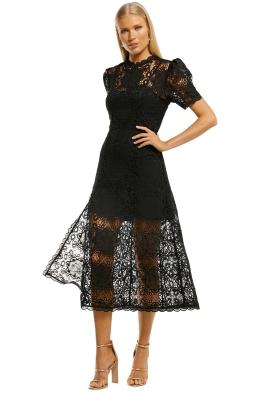 Alice-McCall-Diamonds-Midi-Dress-Black-Front