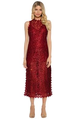 Alice McCall - Bordeaux Dress - Wine - Front