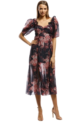 Alice McCall-Only Everything Midi Dress-Ink-Front
