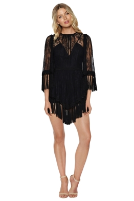 Alice McCall - Are You Ready Girl Mini Dress - Black - Front